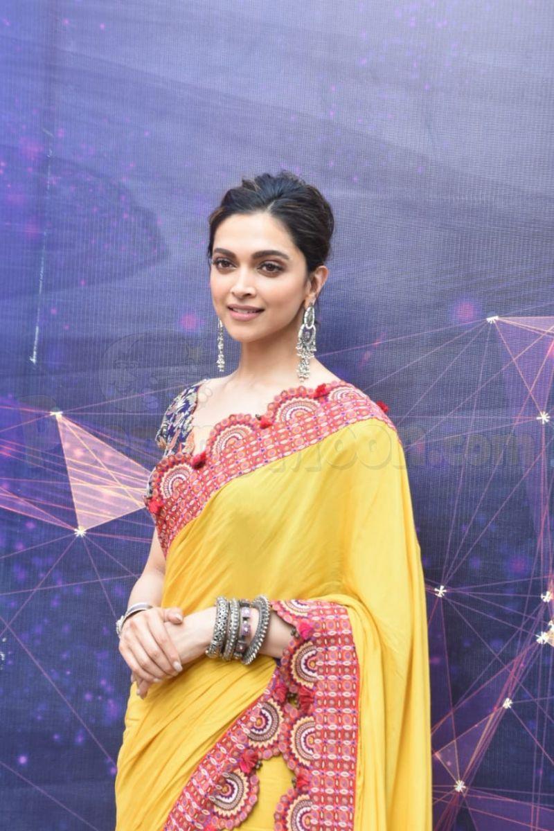 Deepika Padukone turns heads in a yellow-saree while ...