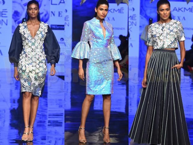 Lakme Fashion Week S R 2020 Designers Pankaj Nidhi Bring The Modern Mermaid At The Runway On Day 4