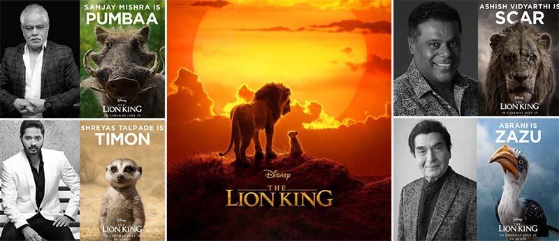 The Lion King Movie Hindi Dubbing Artists