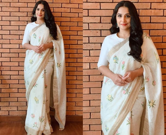 Shakuntala Devi E-Promotions: Gorgeous drapes to fusion dresses, Vidya Balan  is 'Vocal for Local' while being absolutely chic!