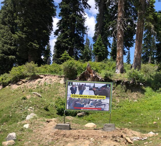 Indian Army names a military firing range in Gulmarg after Bollywood's 'Sherni' Vidya Balan