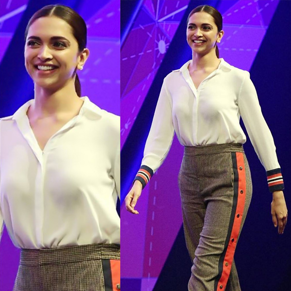 e992dd095493 Deepika Padukone, the stellar actress who came out victorious after  battling depression, was recently seen at the World Congress on Information  Technology ...