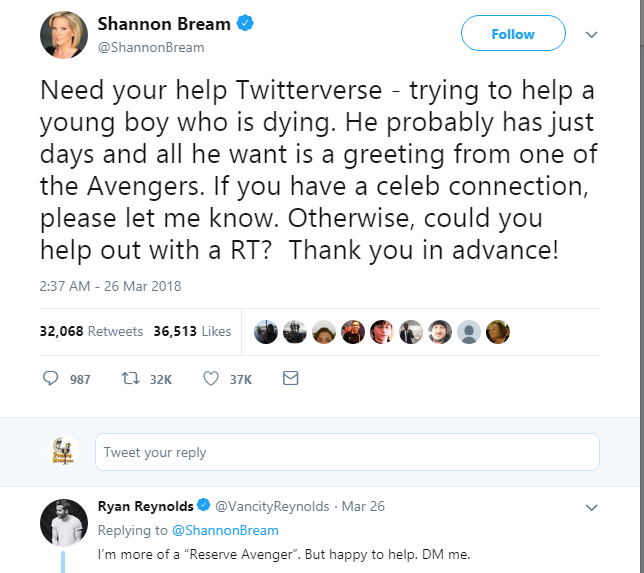 Image result for Marvel Cinematic Universe Assembles for Dying Child Following Twitter Plea