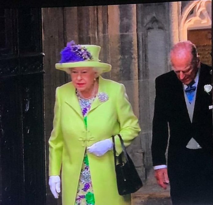 Queen Elizabeth Arrives At The Venue For The Royal Wedding