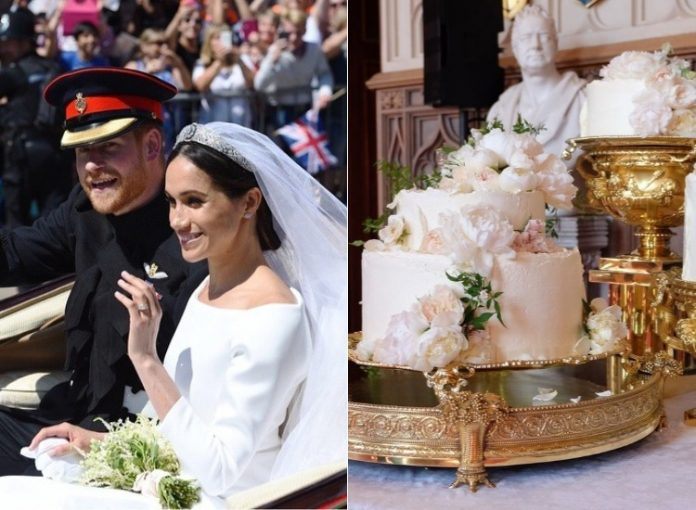 harry and meghan the wedding cake harry meghan to cut wedding cake at the royal luncheon 15095