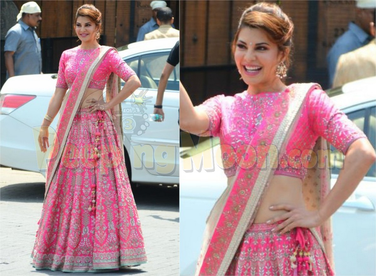 Jacqueline goes \'Punjabi Way\' for Sonam\'s Wedding in a pretty pink ...