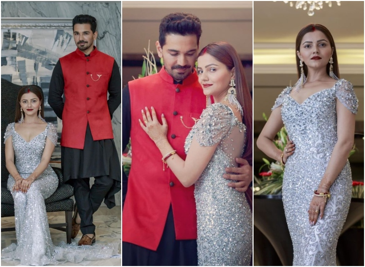 These Pictures Of Rubina And Abhinavs Wedding Reception Are Dreamy Af