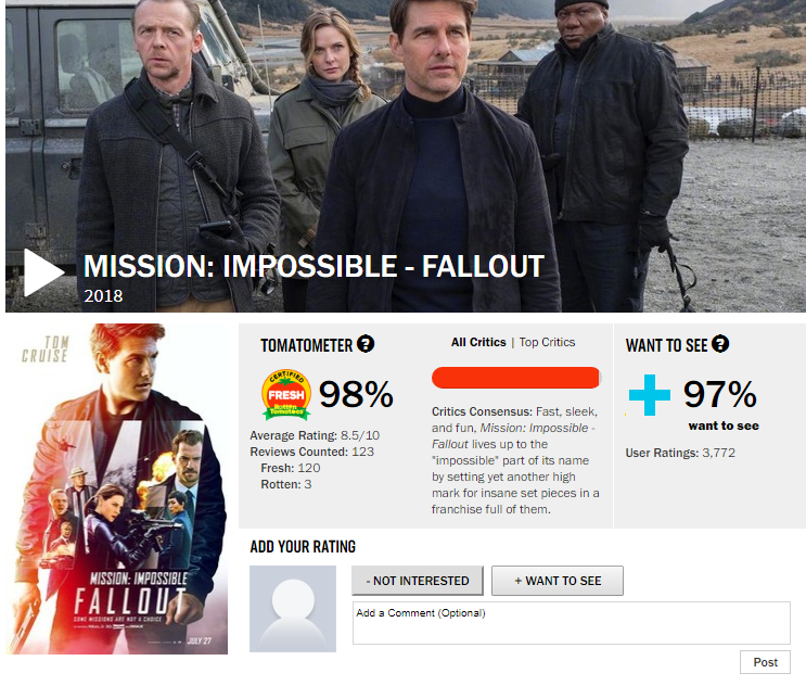 Mission: Impossible – Fallout will see Tom Cruise