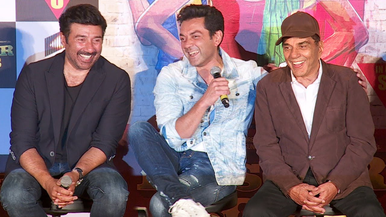 Sunny Deol, Bobby Deol and Dharmendra clicked at the trailer launch of YPD Phir Se