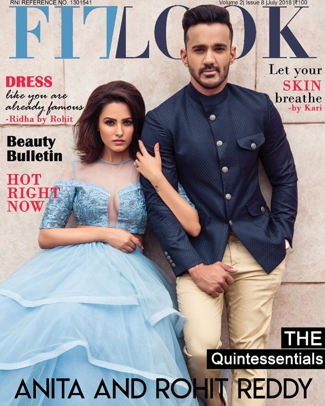 The Quintessentials Anita And Rohit Reddy Grace The Cover Of Fitlook Magazine