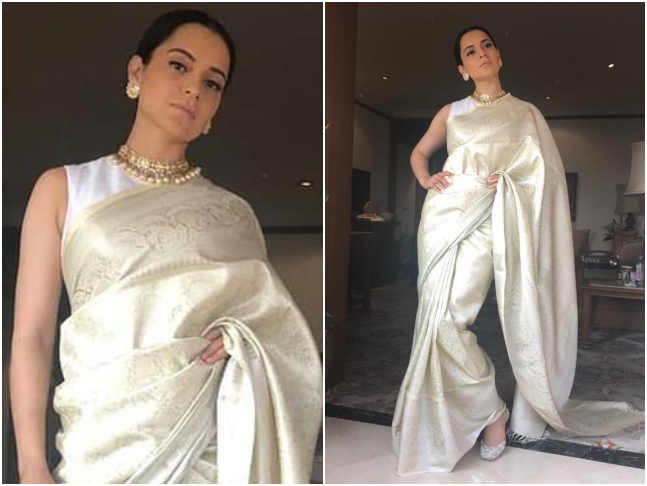 8d06570da7 Recommended Read  Pooh-bani-Parvati  Kangana strikes a balance between  contemporary clothing and Indian traditional with Manikarnika style file